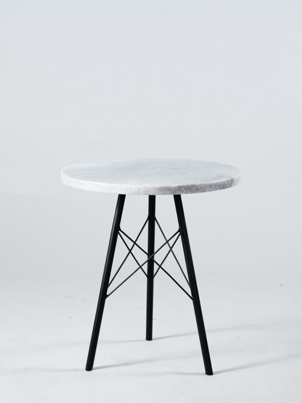 Nagarey products meja henrika marble side table tall for Tall white end table